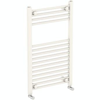 The Heating Co. Phoenix white heated towel rail