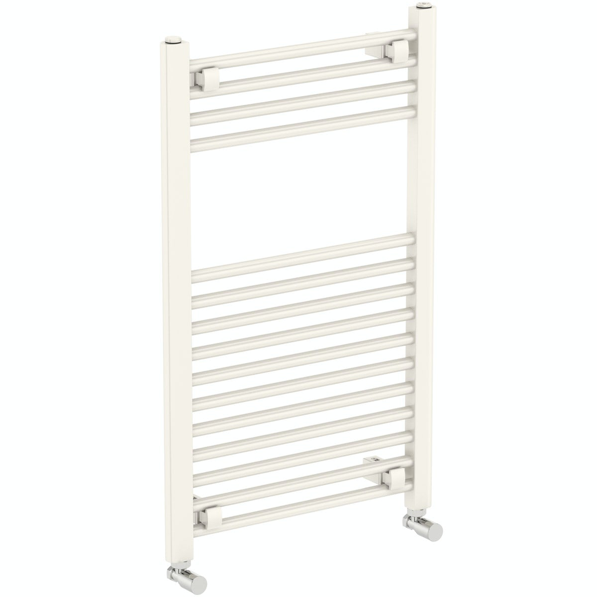 The Heating Co. Eden round white heated towel rail 800 x