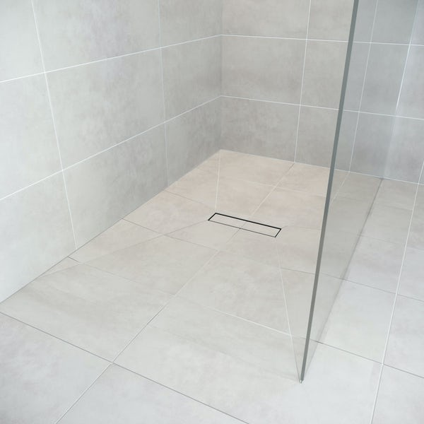 Orchard rectangular wet room tray former with linear centre waste position
