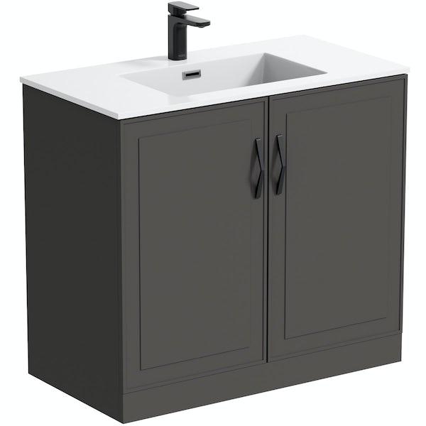 Mode Meier grey floorstanding vanity unit 900mm