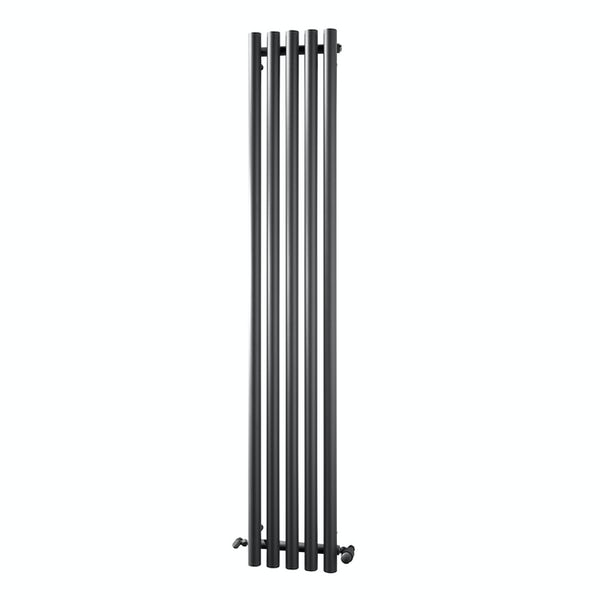 The Heating Co. Veracruz anthracite round panel heated towel rail