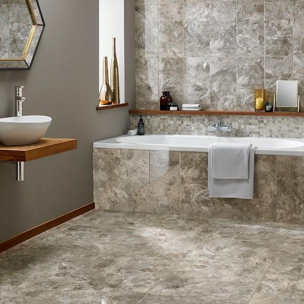 British Ceramic Tile Flint HD beige gloss wall tile 248mm x 498mm