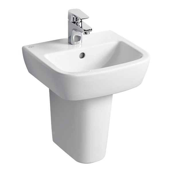 Ideal Standard Tempo 1 tap hole semi pedestal basin 400mm