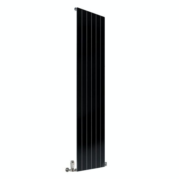 Reina Flat anthracite grey vertical single panel steel designer radiator