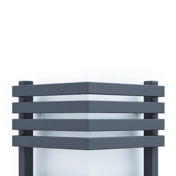 Terma Outcorner modern grey designer towel rail
