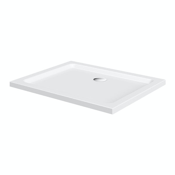 Clarity lightweight rectangular shower tray