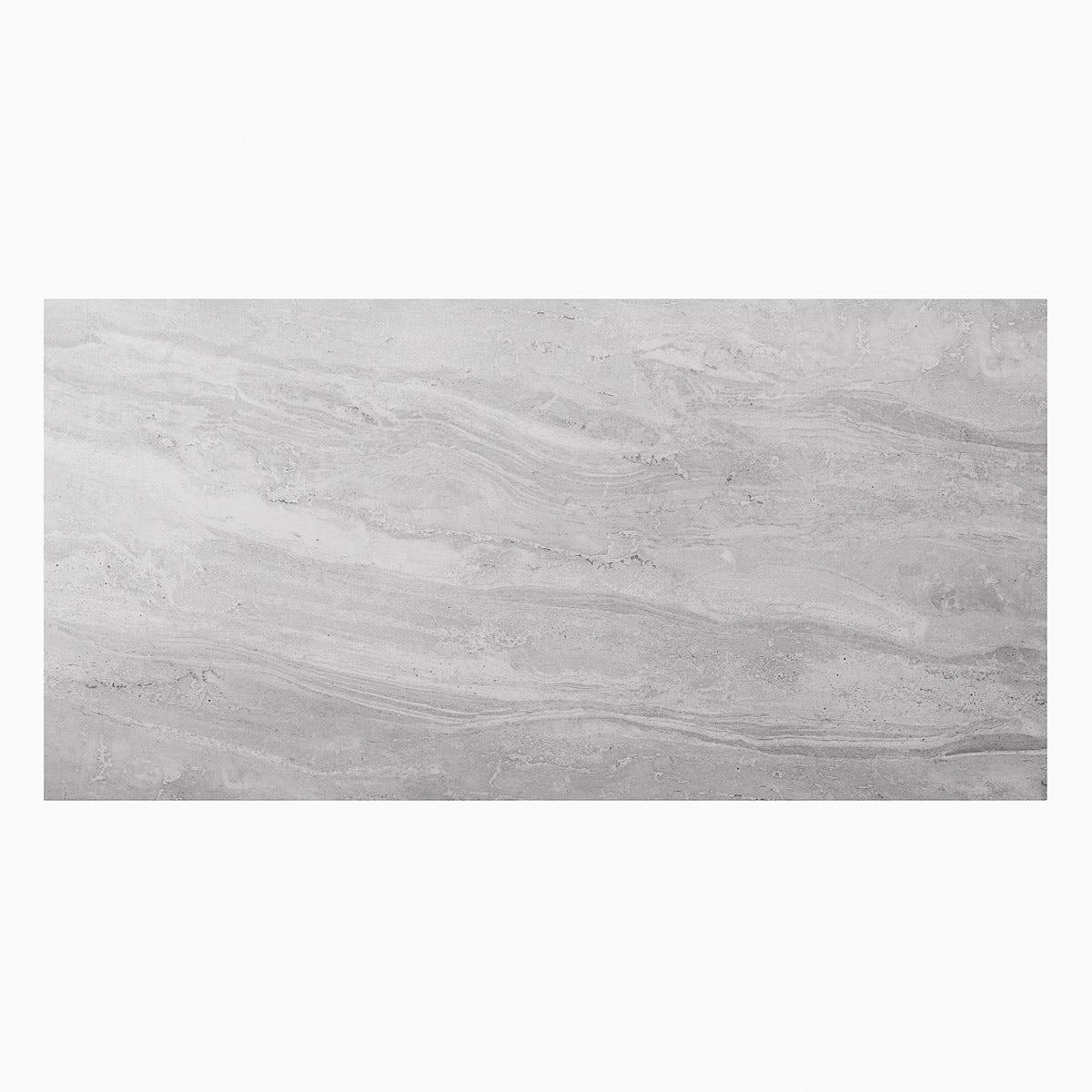 Alaska Grey Marble Effect Matt Wall And Floor Tile 300mm X