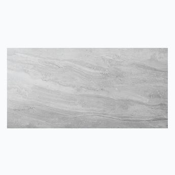 Arctic grey marble effect matt wall and floor tile 300mm x 600mm