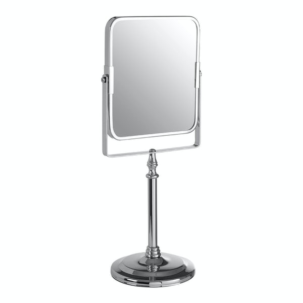 Square tall vanity mirror with traditional finish