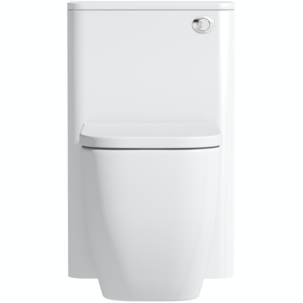 Mode Ellis white back to wall unit and toilet with soft close seat