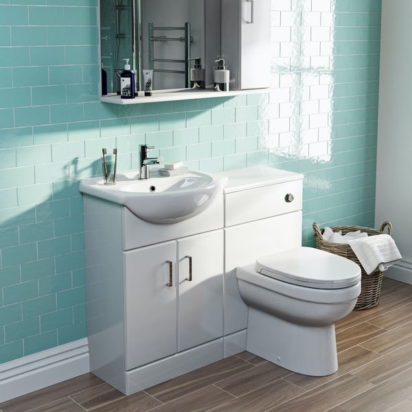 Eden white 1040 combination with Energy back to wall toilet