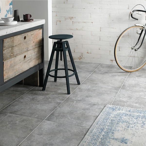 British Ceramic Tile Industrial grey matt floor tile 498mm x 498mm
