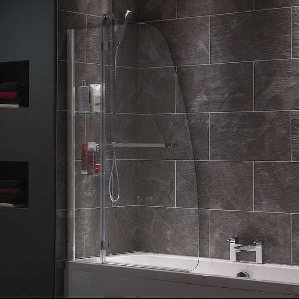 Mode Luxury 8mm Hinged Shower Bath Screen With Glass