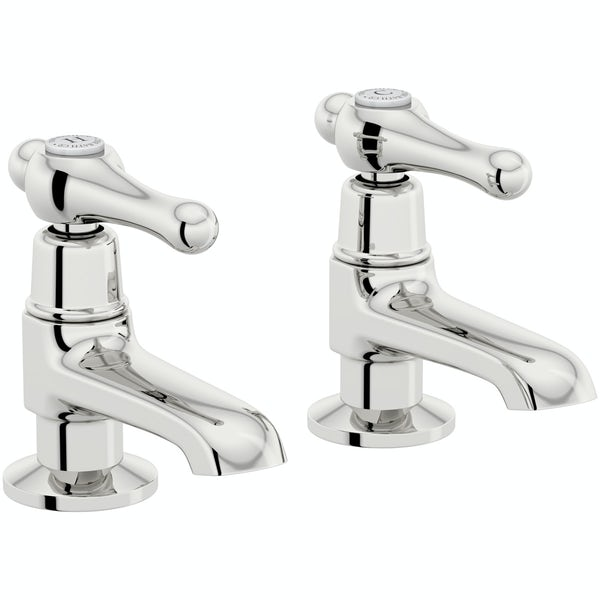 The Bath Co. Camberley lever bath pillar taps