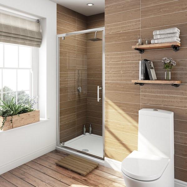 Orchard 6mm pivot hinge shower door offer pack