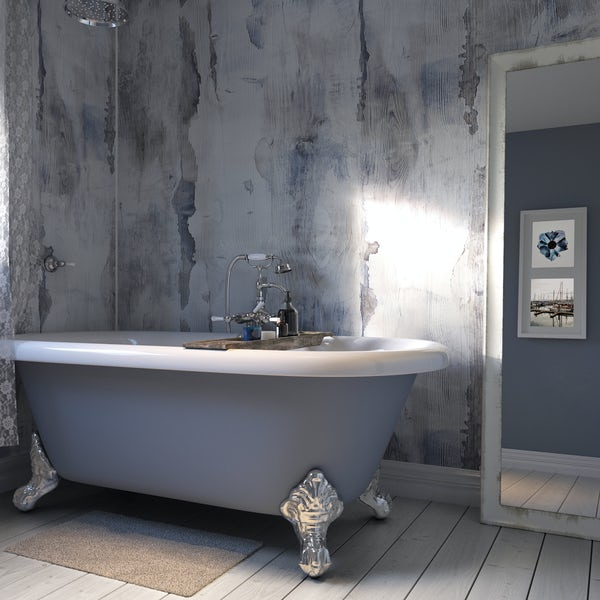 Showerwall Nautical Wood waterproof proclick shower wall panel