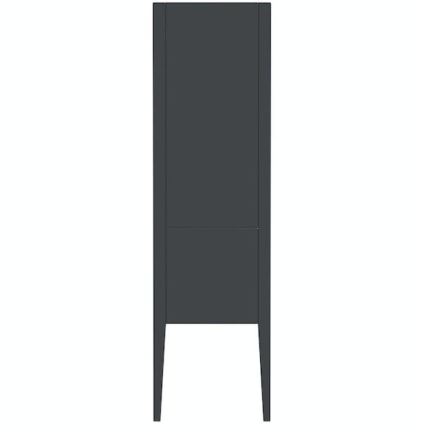 Mode Hale grey gloss wall hung cabinet 1500 x 420mm