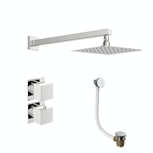 Mode Cooper thermostatic shower valve with wall shower bath set