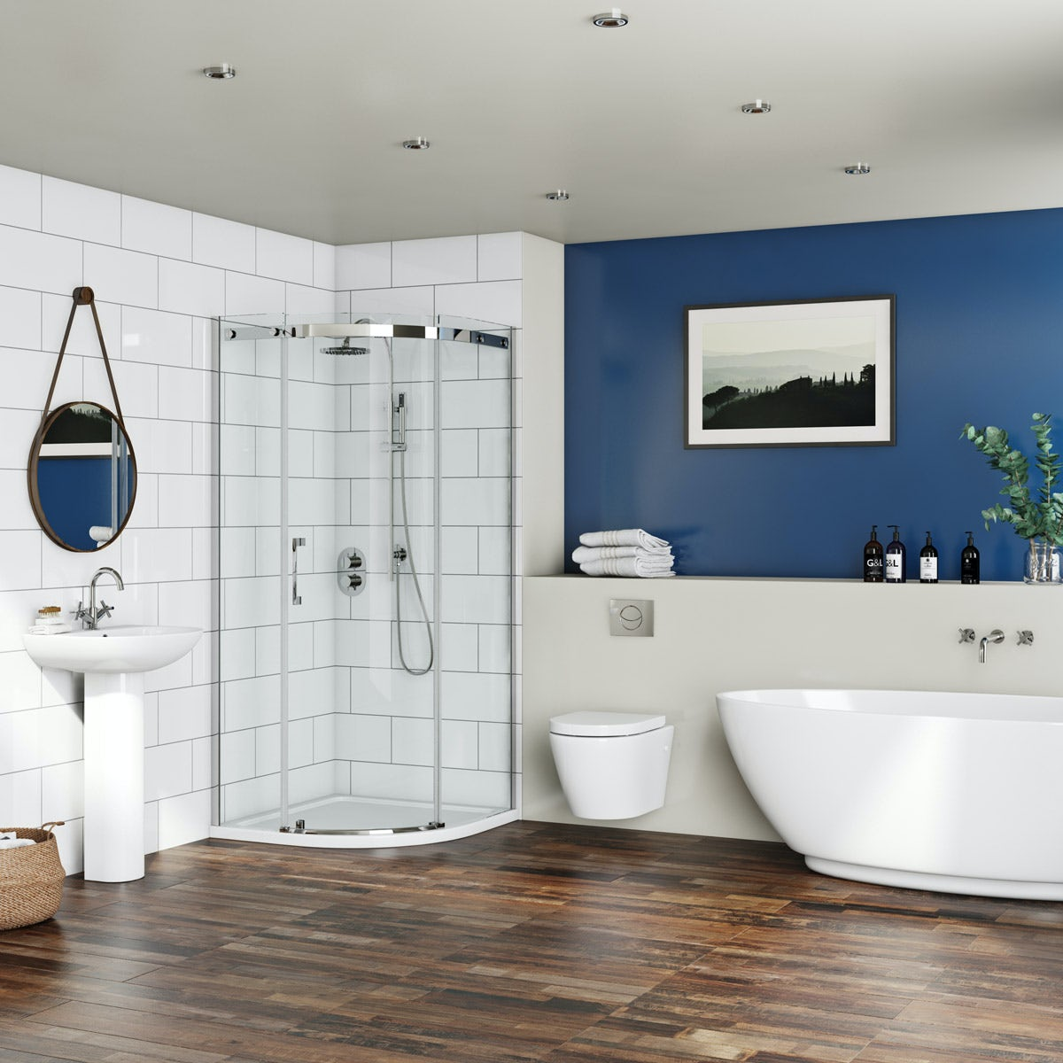 Mode Harrison complete bathroom suite with freestanding ...