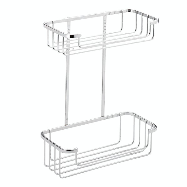 Croydex Rust free two tier cosmetic basket