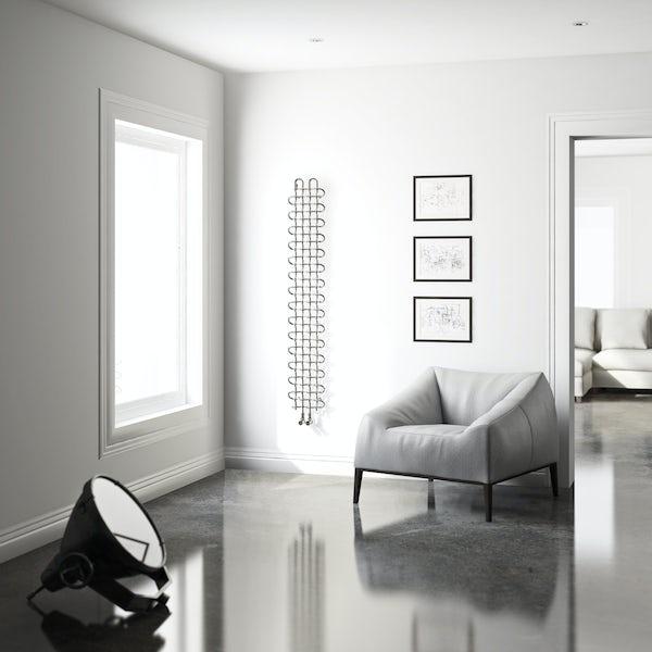 Terma PLC V chrome effect designer radiator 1580 x 263