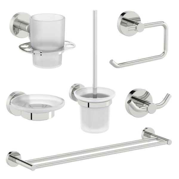 Orchard Elsdon round master bathroom 6 piece accessory set