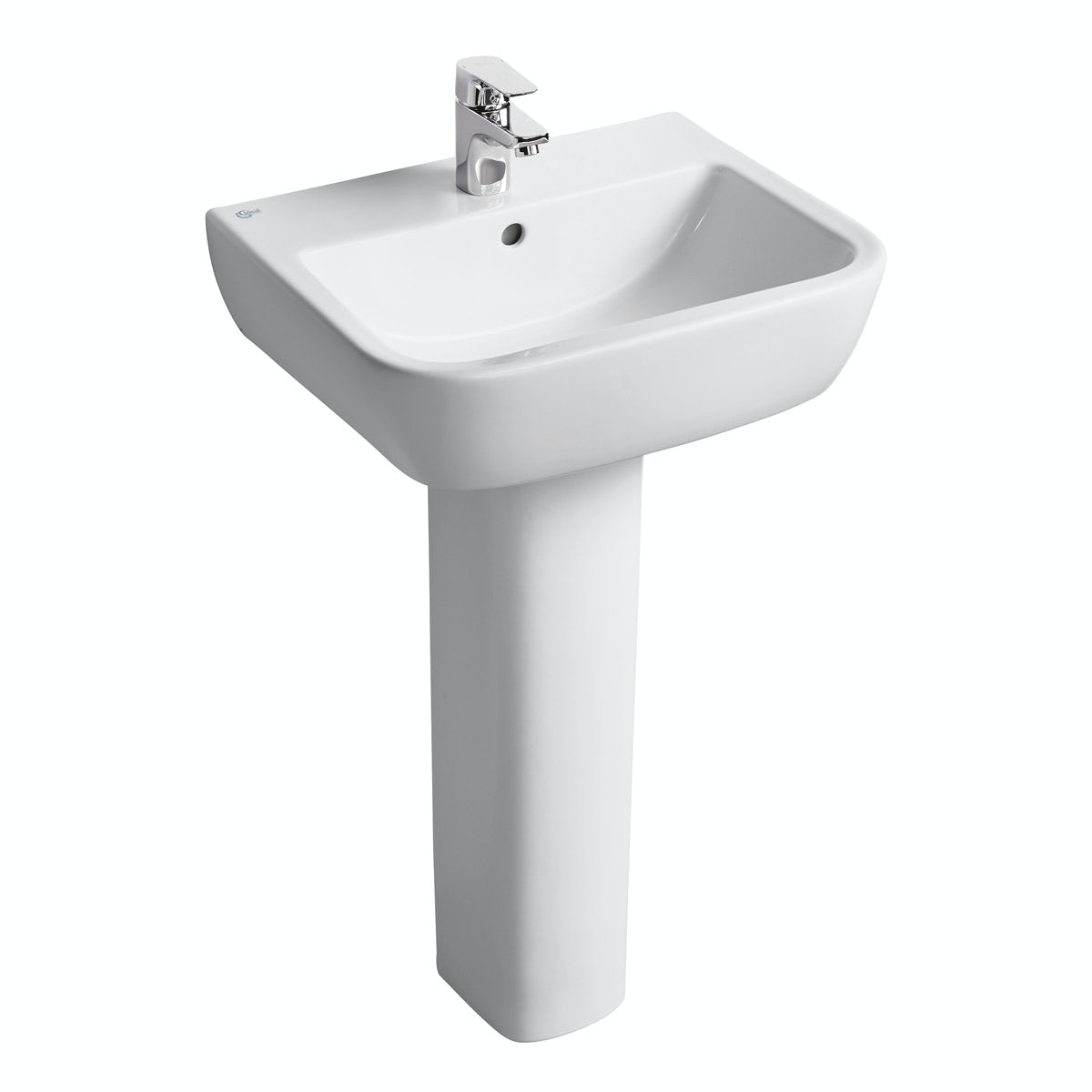 Ideal Standard Tempo 1 tap hole full pedestal basin 550mm
