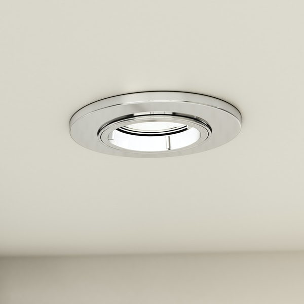 Forum adjustable fire rated bathroom downlight in chrome