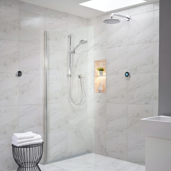 Aqualisa Optic Q Smart concealed shower with adjustable handset and wall head