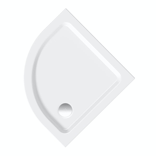 Clarity quadrant lightweight shower tray