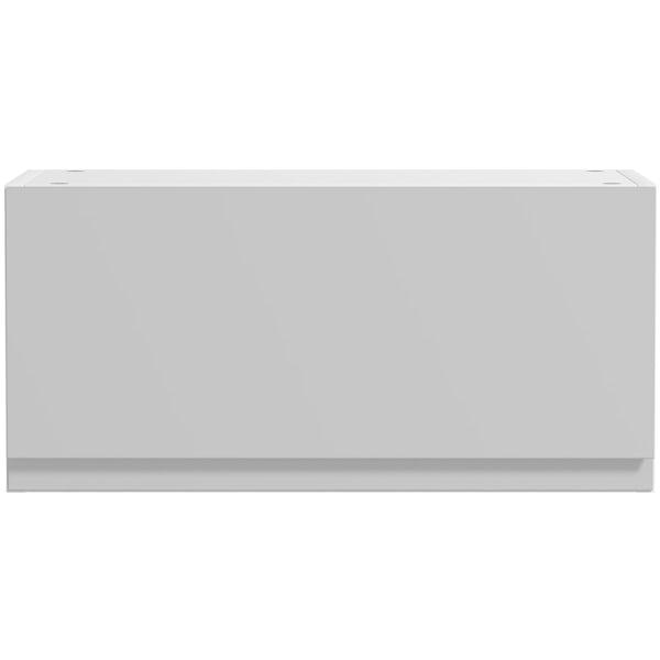 Schon Chicago light grey slab bridging wall unit