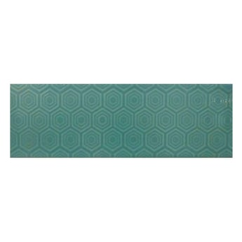 Accents Zenith green patterned gloss wall tile 100mm x 300mm