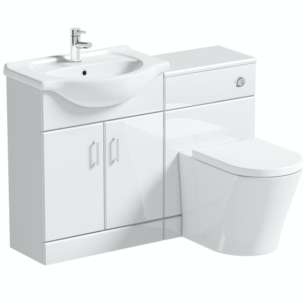 Orchard Eden white 1140 combination with contemporary toilet and seat