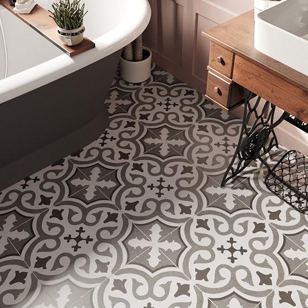 Seville Elena traditional matt wall and floor tile 450mm x 450mm