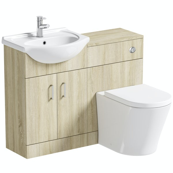 Orchard Eden oak 1040 combination with contemporary toilet and seat