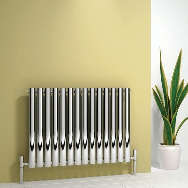 Reina Neva chrome single horizontal steel designer radiator