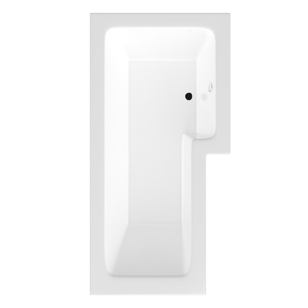 Orchard Vermont bathroom suite with right handed L shaped shower bath 1700 x 850