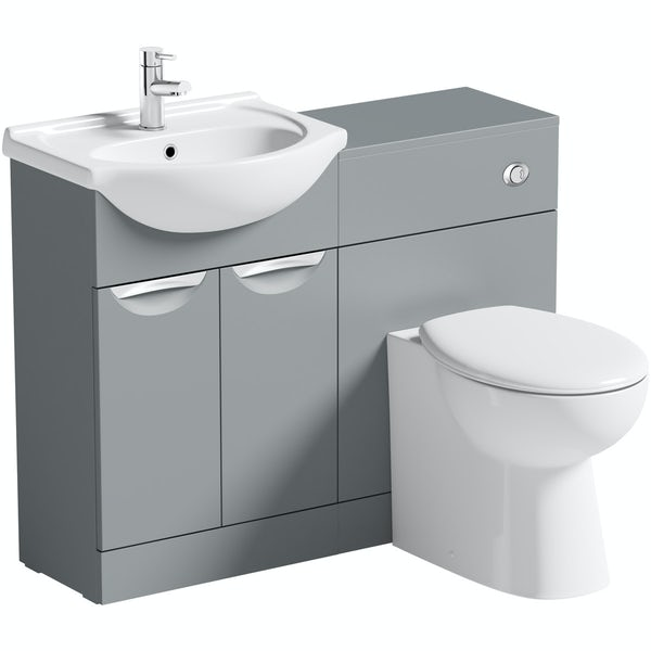 Orchard Elsdon stone grey 1060mm combination with Clarity back to wall toilet and seat