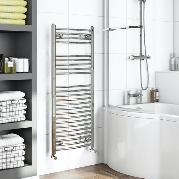 Orchard Elsdon curved heated towel rail 1150 x 450