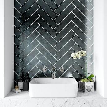 British Ceramic Tile Metallic iron wall tile 75mm x 300mm