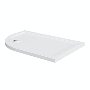 Orchard Offset quadrant left handed stone shower tray