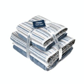 Silentnight Zero twist blue 4 piece towel bale