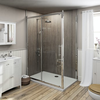 The Bath Co. Camberley traditional 8mm sliding shower enclosure