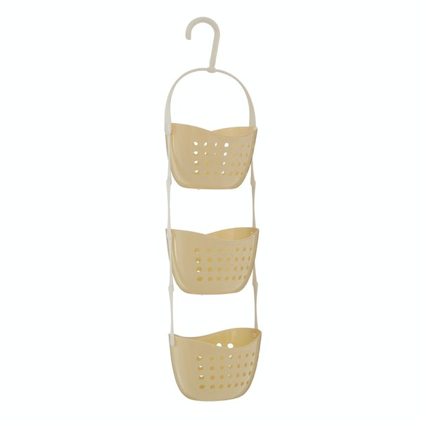 Cream 3 tier hanging shower caddy