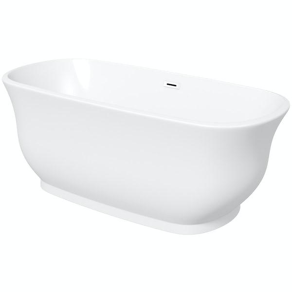 The Bath Co. Camberley black suite with Elegant Elsie bath