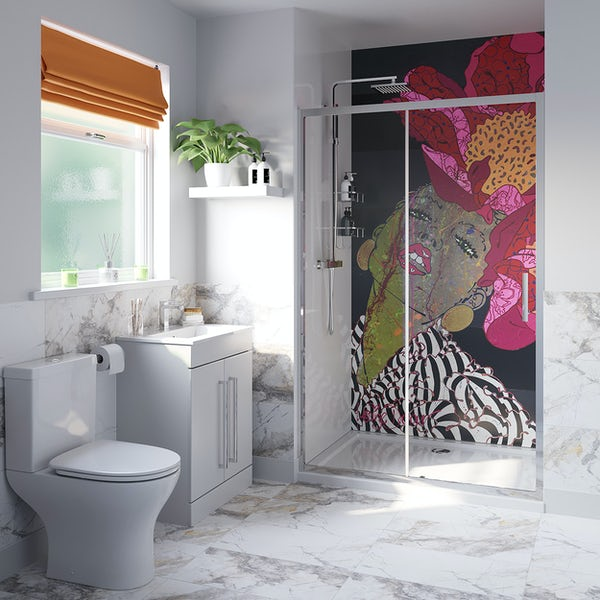 Louise Dear There Are No Rules shower door suite 1200mm