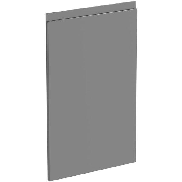 Schon Chicago mid grey 600mm integrated dishwasher or fridge fascia