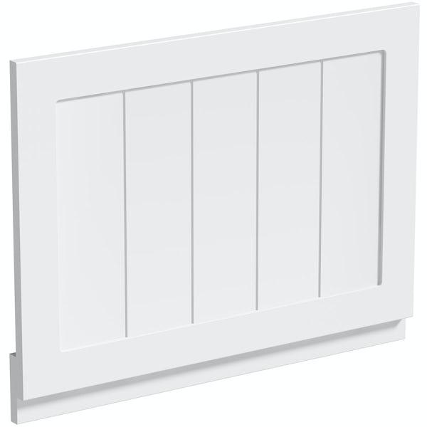 The Bath Co. Dulwich matt white wooden bath panel pack 1700 x 700mm