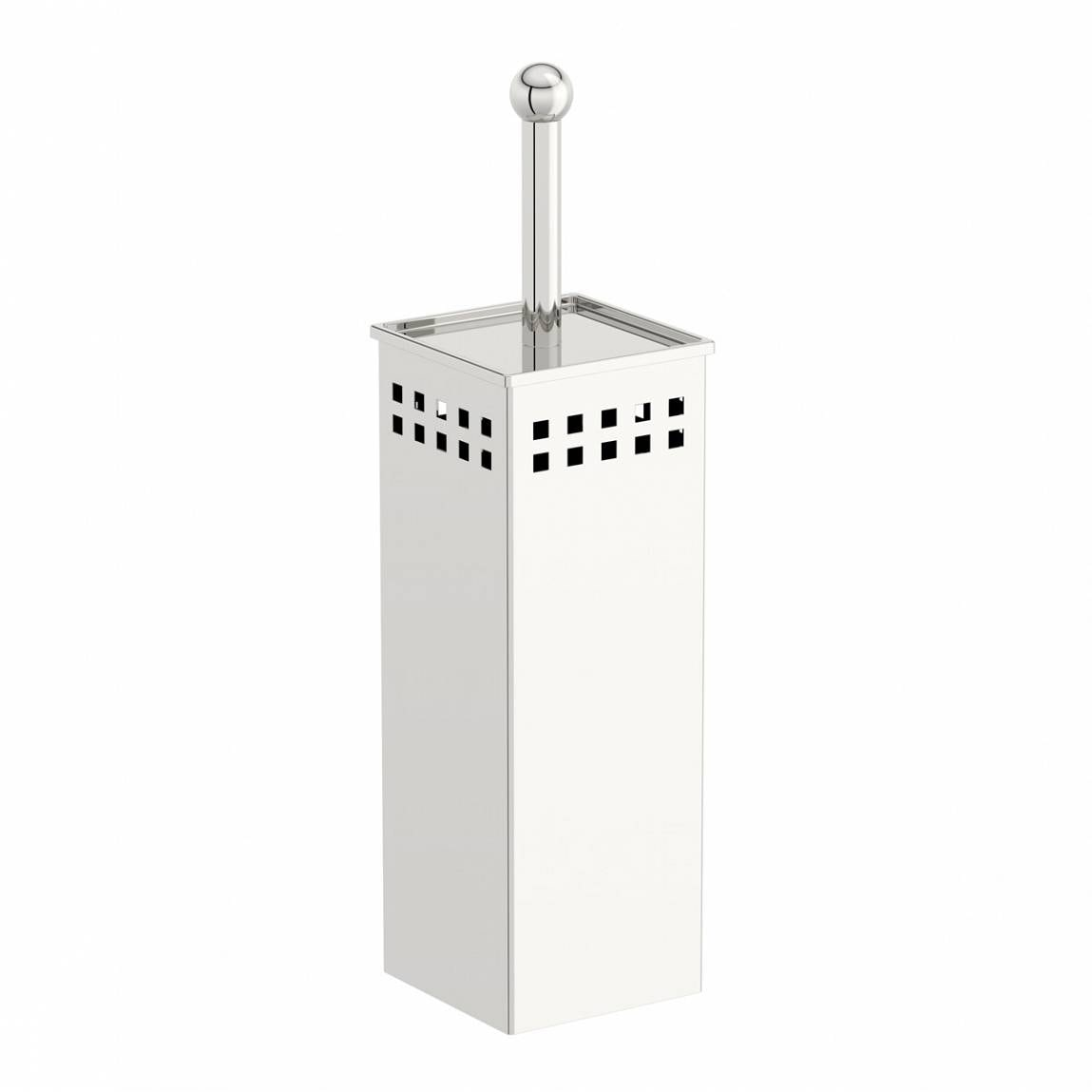 Croydex Freestanding Stainless Steel Polished Finish Toilet Brush and Holder