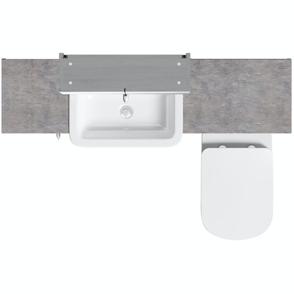 The Bath Co Newbury Dusk Grey Small Fitted Furniture